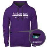 Contemporary Sofspun Purple Hoodie-McLennan Community College