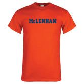 Orange T Shirt-McLennan Solid