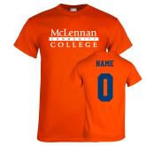 Orange T Shirt-McLennan Community College, Custom Tee w/ Name and #