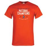 Orange T Shirt-2018 NDA Jazz National Champions