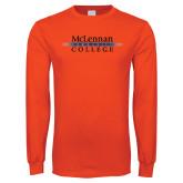 Orange Long Sleeve T Shirt-McLennan Community College