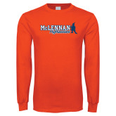 Orange Long Sleeve T Shirt-McLennan Highlassies