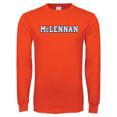 Orange Long Sleeve T Shirt-McLennan