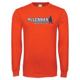 Orange Long Sleeve T Shirt-McLennan Highlanders Distressed