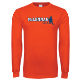 Orange Long Sleeve T Shirt-Golf