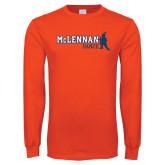 Orange Long Sleeve T Shirt-Dance