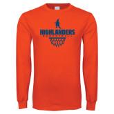 Orange Long Sleeve T Shirt-Basketball