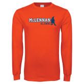 Orange Long Sleeve T Shirt-Alumni