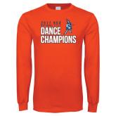 Orange Long Sleeve T Shirt-2017 NDA National Dance Champions