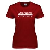 Ladies Cardinal T Shirt-McLennan Community College