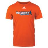 Adidas Orange Logo T Shirt-McLennan Highlanders