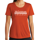 Ladies Syntrel Performance Orange Tee-McLennan Community College