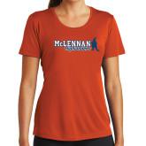 Ladies Syntrel Performance Orange Tee-McLennan Highlanders