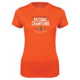 Ladies Syntrel Performance Orange Tee-2018 NDA Jazz National Champions