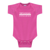 Fuchsia Infant Onesie-McLennan Community College