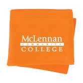 Orange Sweatshirt Blanket-McLennan Community College