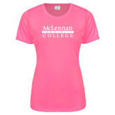 Ladies Performance Hot Pink Tee-McLennan Community College