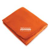 Orange Arctic Fleece Blanket-McLennan Community College