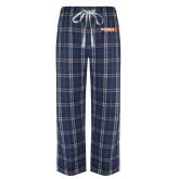 Navy/White Flannel Pajama Pant-McLennan Highlanders