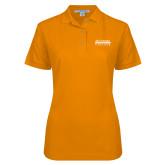 Ladies Easycare Orange Pique Polo-McLennan Community College