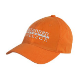 Orange Twill Unstructured Low Profile Hat-McLennan Community College