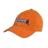 Orange Twill Unstructured Low Profile Hat-McLennan Highlanders
