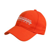 Orange Heavyweight Twill Pro Style Hat-McLennan Community College