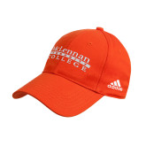 Adidas Orange Structured Adjustable Hat-McLennan Community College