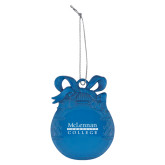 Royal Bulb Ornament-McLennan Community College Engraved