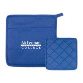 Quilted Canvas Royal Pot Holder-McLennan Community College