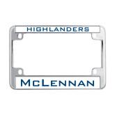 Metal Motorcycle License Plate Frame in Chrome-Highlanders