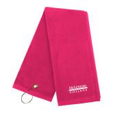 Pink Raspberry Golf Towel-McLennan Community College