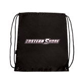 Nylon Black Drawstring Backpack-Eastern Shore