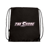 Nylon Black Drawstring Backpack-The Shore