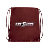 Nylon Maroon Drawstring Backpack-The Shore