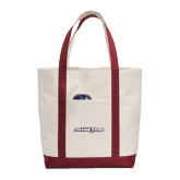 Contender White/Maroon Canvas Tote-Primary Mark