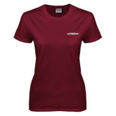 Ladies Maroon T Shirt-Primary Mark