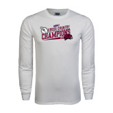 White Long Sleeve T Shirt-2014 Mens Cross Country Champions Rise
