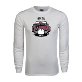 White Long Sleeve T Shirt-2015 MEAC Bowling Champions