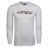 White Long Sleeve T Shirt-Maryland Eastern Shore Hawks