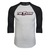White/Black Raglan Baseball T-Shirt-The Shore