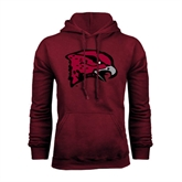 Maroon Fleece Hood-