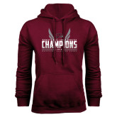 Maroon Fleece Hoodie-Womens MEAC Cross Country Champions 2016