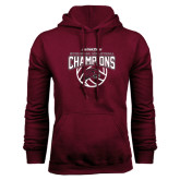 Maroon Fleece Hood-MEAC Volleyball Champions 2016