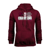 Champion Maroon Fleece Hood-2014 Mens Cross Country Champions Stacked