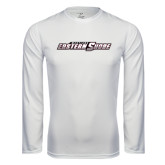 Performance White Longsleeve Shirt-Primary Mark