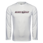 Performance White Longsleeve Shirt-Eastern Shore