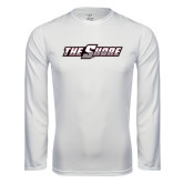 Performance White Longsleeve Shirt-The Shore