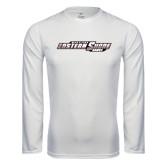 Performance White Longsleeve Shirt-Maryland Eastern Shore Hawks