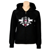 Ladies Black Fleece Full Zip Hoodie-2011 Volleyball Champions